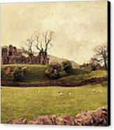 Pendragon Castle Canvas Print by Linde Townsend