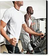 People Exercising In Health Club Canvas Print by Erik Isakson
