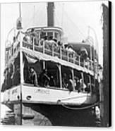 People Fleeing Galveston After Flood - September 1900 Canvas Print by International  Images