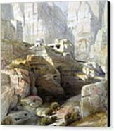 Petra March 10th 1839 Canvas Print by Munir Alawi