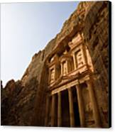 Petra Treasury At Morning Canvas Print by Universal Stopping Point Photography