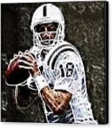 Peyton Manning 18 Canvas Print by Paul Ward