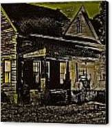 Photos In An Attic - Homestead Canvas Print by Leslie Revels Andrews