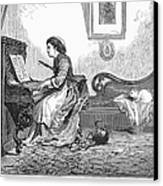 Pianist, 1876 Canvas Print by Granger