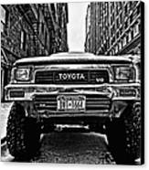 Pick Up Truck On A New York Street Canvas Print by John Farnan