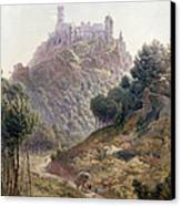 Pina Cintra Summer Home Of The King Of Portugal Canvas Print by George Leonard Lewis