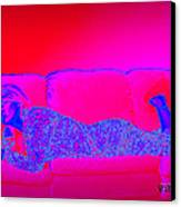 Pink And Blue Daydream Canvas Print by Charles Benavidez