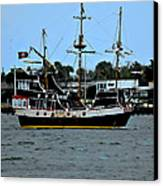 Pirate Ship Of The Matanzas Canvas Print by DigiArt Diaries by Vicky B Fuller