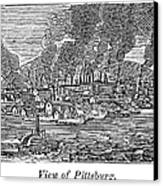 Pittsburgh, 1836 Canvas Print by Granger