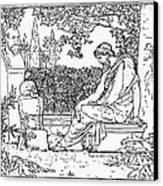 Plato (c427-c347 B.c.) Canvas Print by Granger