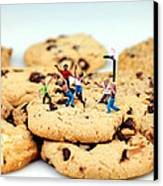 Playing Basketball On Cookies Canvas Print by Paul Ge