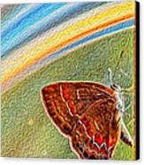 Playroom Butterfly Canvas Print by Bill Tiepelman