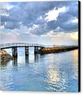 Plymouth Sunset Canvas Print by Tammy Wetzel