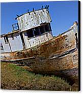 Point Reyes Beached Boat Canvas Print by Garry Gay