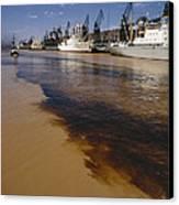 Polluted Water, Rio De La Plata Canvas Print by Bernard Wolff