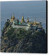 Popa Mountain Top Temple Canvas Print by Huang Xin