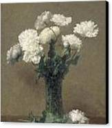 Poppies Canvas Print by Ignace Henri Jean Fantin-Latour