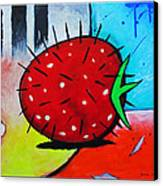 Porcupine Strawberry Canvas Print by Snake Jagger