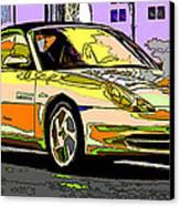 Porsche Carrera Study 4 Canvas Print by Samuel Sheats