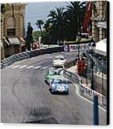 Porsches At Monte Carlo Casino Square Canvas Print by John Bowers