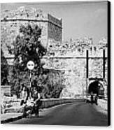 Porta Di Limisso Old Land Limassol Gate In The Old City Walls Famagusta Canvas Print by Joe Fox
