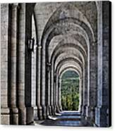 Portico From The Valley Of The Fallen Canvas Print by Mary Machare
