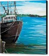 Portland Harbor - Home Again Canvas Print by Scott Nelson