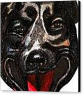 Portrait Of A Pooch Canvas Print by Al Goldfarb