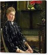 Portrait Of Mrs Ralph Sneyd Canvas Print by Sir Lawrence Alma-Tadema