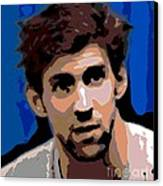 Portrait Of Phelps Canvas Print by George Pedro