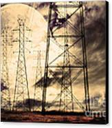 Power Grid Canvas Print by Wingsdomain Art and Photography