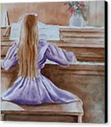 Practice Makes Perfect Canvas Print by Patsy Sharpe