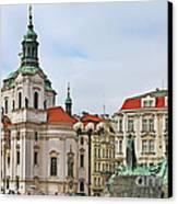 Prague - St Nicholas Church Old Town Square Canvas Print by Christine Till