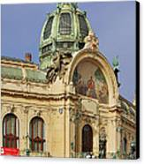 Prague Obecni Dum - Municipal House Canvas Print by Christine Till