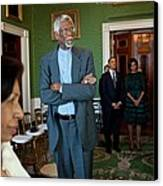 President And First Lady Michelle Obama Canvas Print by Everett