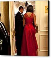 President And Michelle Obama Make Canvas Print by Everett