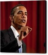 President Barack Obama Making Canvas Print by Everett