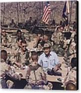 President George Bush Having Canvas Print by Everett