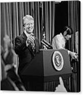 President Jimmy Carter Taking Canvas Print by Everett
