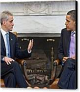 President Obama Meets With Chicago Canvas Print by Everett