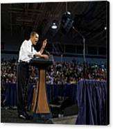 President Obama Promotes Health Care Canvas Print by Everett