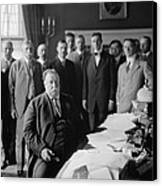 President William H. Taft At His Desk Canvas Print by Everett