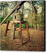 Primitive Sugar Cane Mill Canvas Print by Tamyra Ayles
