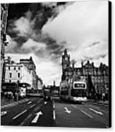 Princes Street Edinburgh Scotland Canvas Print by Joe Fox