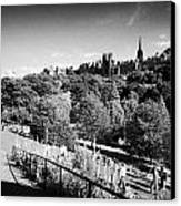 Princes Street Gardens Edinburgh Scotland Uk United Kingdom Canvas Print by Joe Fox