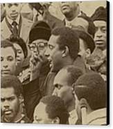 Profile Of Stokely Carmichael Speaking Canvas Print by Everett
