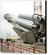 Proton-m Rocket Before Launch Canvas Print by Ria Novosti