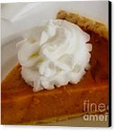 Pumpkin Pie Canvas Print by Cheryl Young