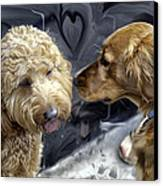 Puppy Love Canvas Print by Madeline Ellis