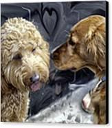 Puppy Love Canvas Print by Madeline Ellis